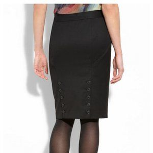 Ted Baker Pencil Skirt Double Row Buttons XS